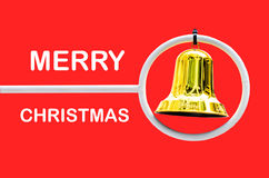 Juguete de la campana de la Navidad con el espacio para su texto  Imagen de archivo