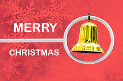 Juguete de la campana de la Navidad con el espacio para su texto  Foto de archivo libre de regalías
