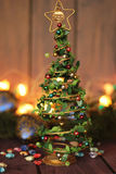 Juguete de la decoración del árbol de navidad, lugar para el texto Imagenes de archivo