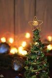 Juguete de la decoración del árbol de navidad, lugar para el texto Imágenes de archivo libres de regalías