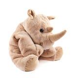 Juguete de la felpa del rinoceronte del rinoceronte Fotografía de archivo libre de regalías