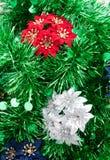 Juguete de la Navidad con la lentejuela verde Fotos de archivo libres de regalías