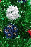 Juguete de la Navidad con la lentejuela verde Foto de archivo