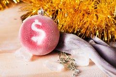 Juguete de la Navidad con una muestra de dólar Foto de archivo