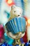 Juguete de la Navidad de la vendimia Fotografía de archivo