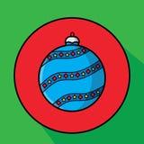 Juguete de la Navidad del vector para el árbol de abeto Imagen de archivo libre de regalías