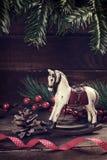 Juguete de la Navidad del vintage en estilo retro Foto de archivo libre de regalías