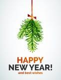 Juguete de la rama de árbol de navidad, concepto del Año Nuevo Fotos de archivo libres de regalías