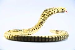 Juguete de la serpiente de la cobra real Fotografía de archivo libre de regalías