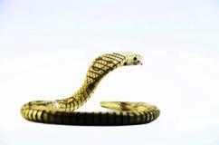 Juguete de la serpiente de la cobra real Foto de archivo libre de regalías