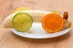 Juguete de las frutas tropicales para el bebé Imágenes de archivo libres de regalías