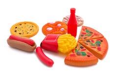 Juguete de los alimentos de preparación rápida Foto de archivo libre de regalías