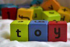 Juguete de los bloques de los niños Fotografía de archivo libre de regalías