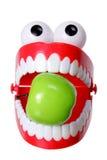 Juguete de los dientes del rechino con Apple Fotos de archivo