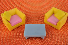 Juguete de los muebles Foto de archivo libre de regalías