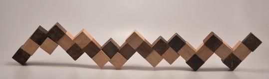 Juguete de madera cúbico ampliado Fotos de archivo