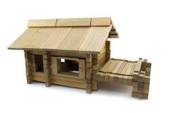 Juguete de madera de la casa Imágenes de archivo libres de regalías
