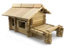Juguete de madera de la casa Fotos de archivo