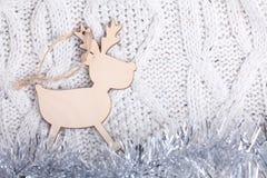 Juguete de madera de la Navidad del Año Nuevo Fotos de archivo