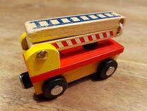 Juguete de madera de los niños Fotografía de archivo