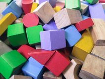 Juguete de madera del bloque Foto de archivo libre de regalías