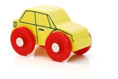 Juguete de madera del coche Imágenes de archivo libres de regalías