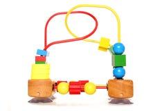 Juguete de madera del highchair Imagen de archivo libre de regalías