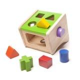 Juguete de madera del niño del clasificador Fotografía de archivo libre de regalías