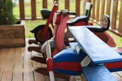 Juguete de madera en un hogar Fotos de archivo libres de regalías