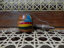 Juguete de madera hecho a mano imágenes de archivo libres de regalías
