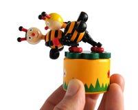 Juguete de madera las abejas del baile Fotografía de archivo