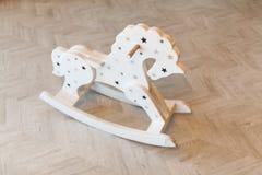 Juguete de madera de los niños s del caballo Foto de archivo libre de regalías