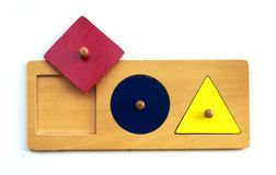 Juguete de Montessori Imagenes de archivo