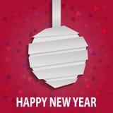 Juguete de papel abstracto de la Navidad. Tarjeta de felicitaciones Fotos de archivo libres de regalías