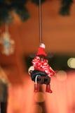 Juguete decorativo de la decoración de la Navidad y del Año Nuevo en estilo retro Foto de archivo