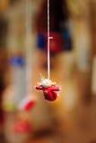 Juguete decorativo de la Navidad. imagenes de archivo