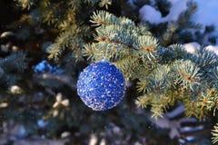 Juguete del árbol de navidad Fotos de archivo