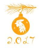 Juguete del árbol de navidad Foto de archivo