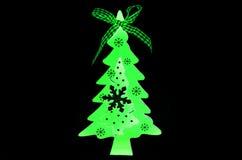 Juguete del árbol de navidad luminoso Foto de archivo libre de regalías