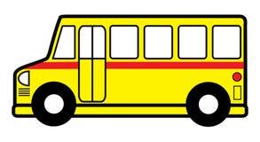 Juguete del autobús escolar Fotos de archivo