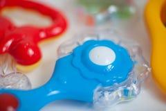 Juguete del bebé para los azules cielos Imagen de archivo libre de regalías