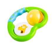 Juguete del bebé en blanco Fotos de archivo libres de regalías