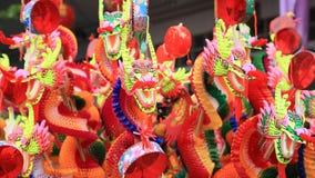 Juguete del dragón que vende en la ciudad de Bangkok China Fotos de archivo