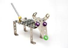 Juguete del metal de la vendimia - perro fotos de archivo
