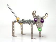 Juguete del metal de la vendimia - perro Imagenes de archivo