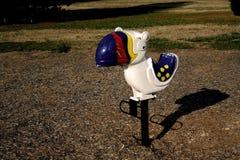 Juguete del montar a caballo Imagen de archivo libre de regalías