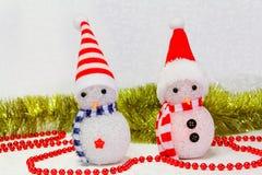 Juguete del muñeco de nieve imagen de archivo