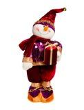 Juguete del muñeco de nieve Fotografía de archivo