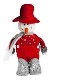 Juguete del muñeco de nieve Imagenes de archivo