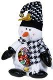 Juguete del muñeco de nieve con los caramelos Foto de archivo libre de regalías